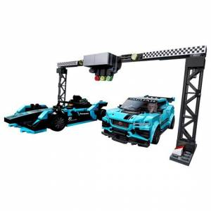 LEGO Speed Champions 76898, Formula E Panasonic Jaguar Racing GEN2 car & Jaguar I-PACE eTROPHY