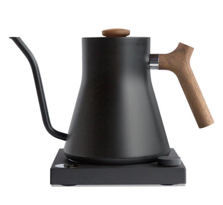 Kaffebox Stagg EKG Electric Kettle 0.9l - Matte Black & Walnut