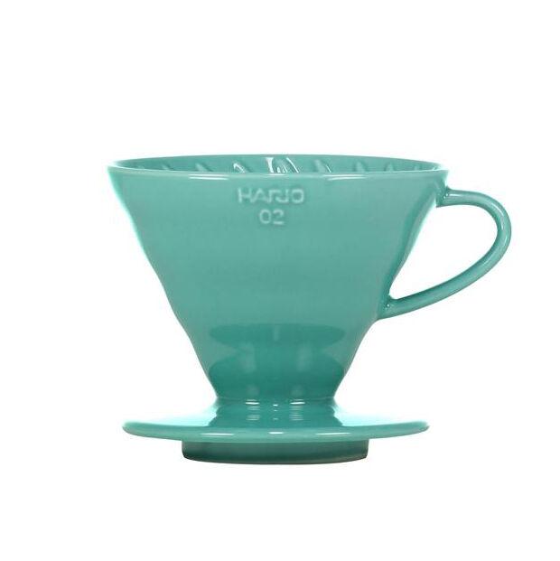 Kaffebox V60 02 Hario Håndbrygger Keramikk - Turquoise