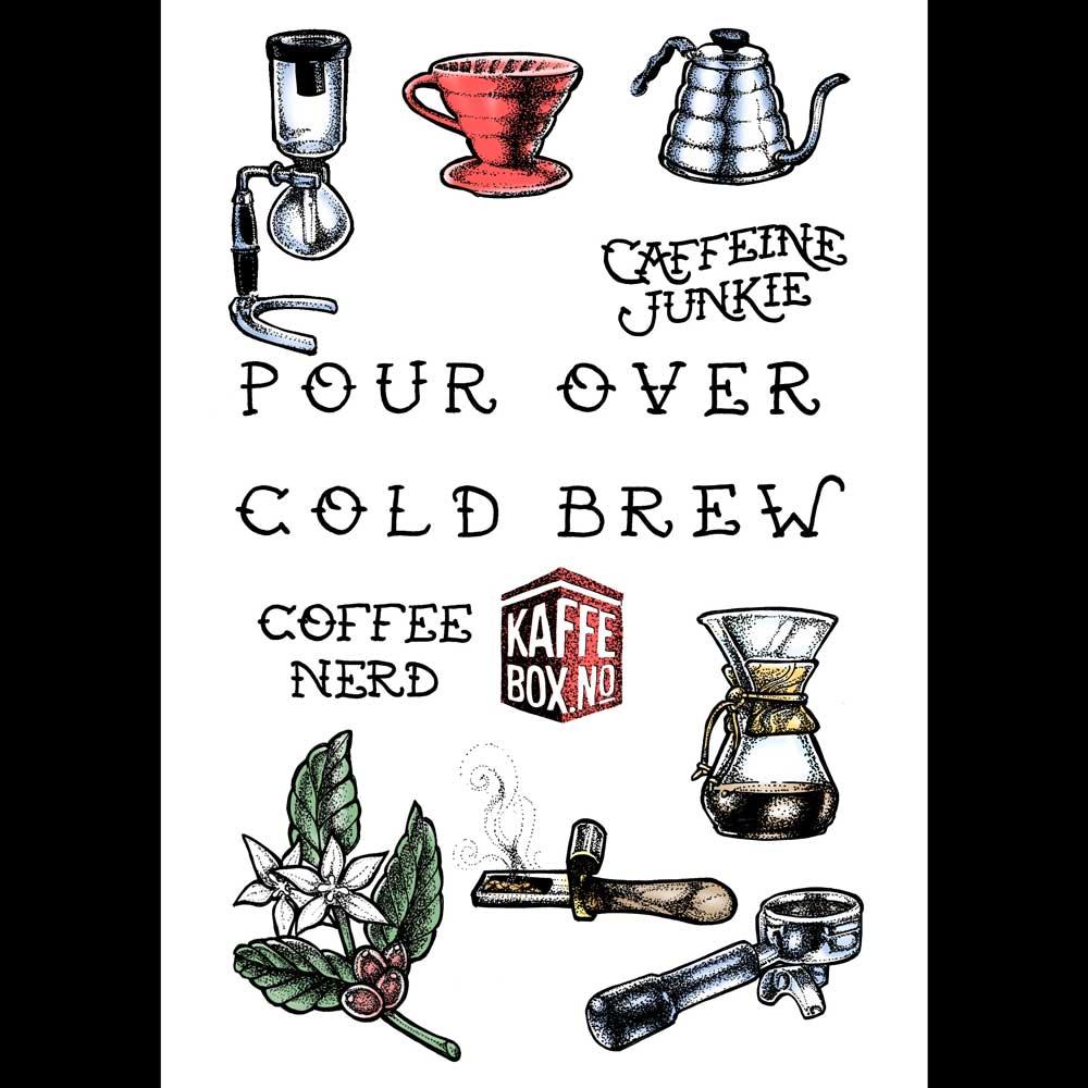 Kaffebox Specialty Coffee Temporary Tattoos