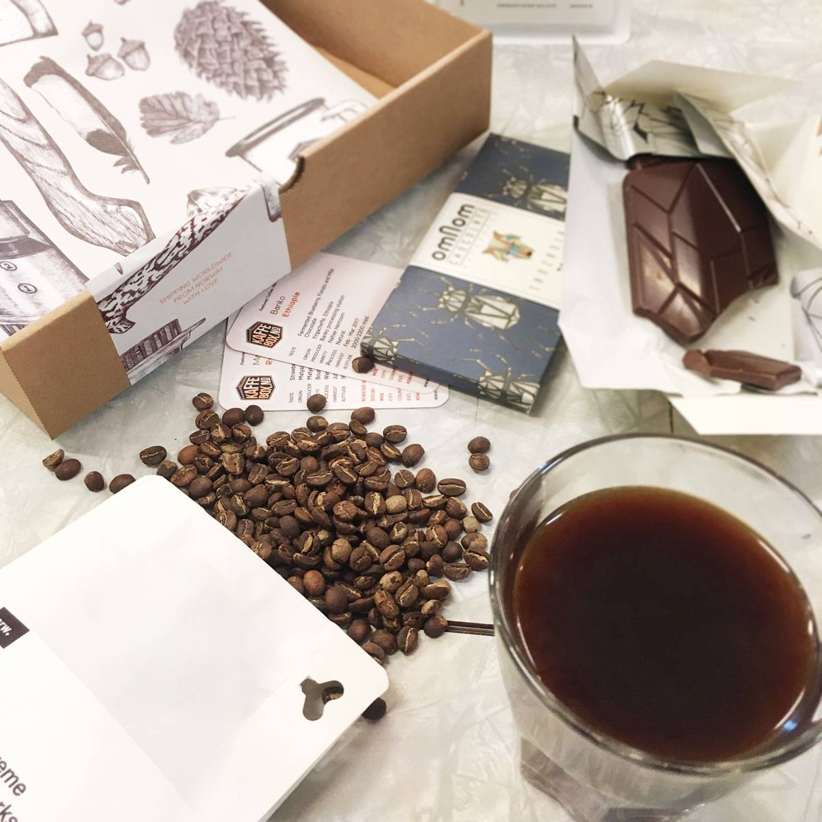 KaffeBox Chocolate Pairing Subscription - No coffee (only chocolate), 1 bar