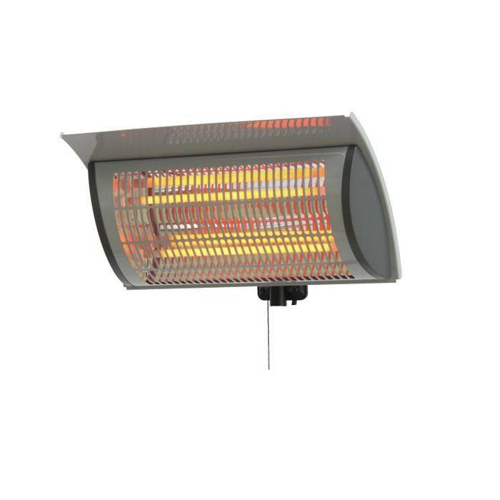 Easy Living Terrassevarmer / Heater, 2000 Watt, Grå, Aluminium
