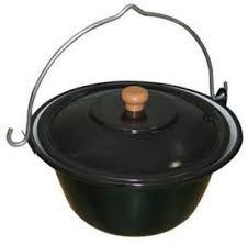 Espegard Suppegryte 10 Liter, Svart Emaljert Stål