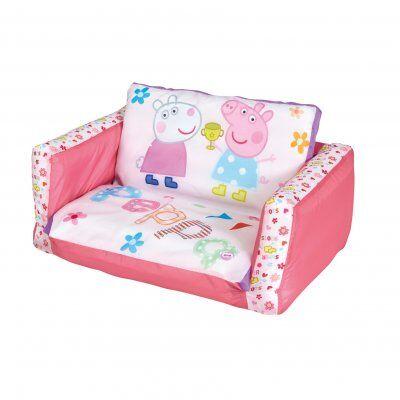 Peppa Pig Peppa Gris, oppblåsbare sofa og luftmadrass 2 i 1