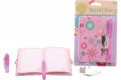 Johntoy Hemmelige dagbok med lås og penn