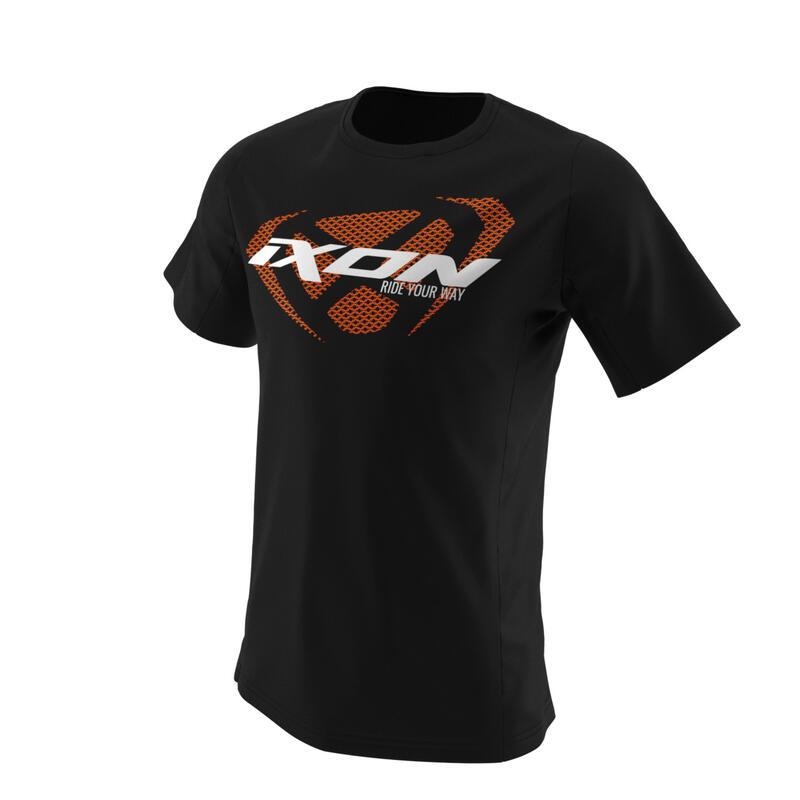Ixon Unit Tee Sort/hvit/oransj Str S Cool T-Skjorte   S