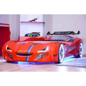 Drømmerom Bil seng Knight 7000 Rød- med LYD og LED LYS