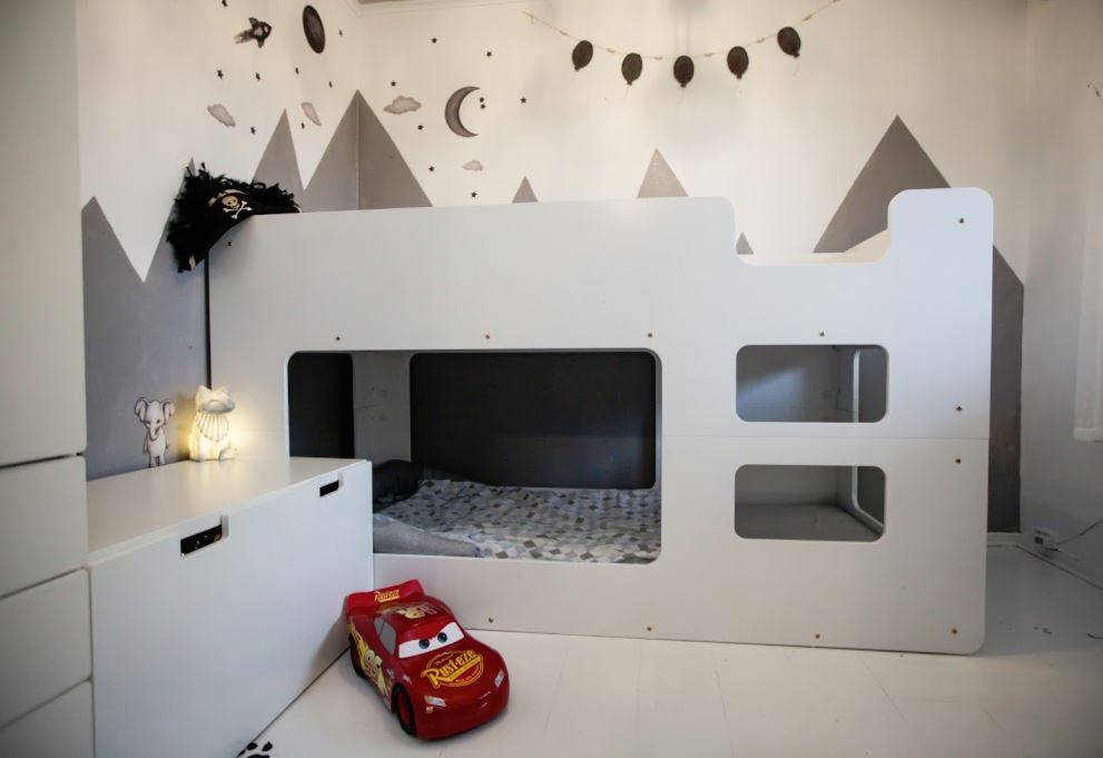 Drømmerom Cube køyeseng – Hvit