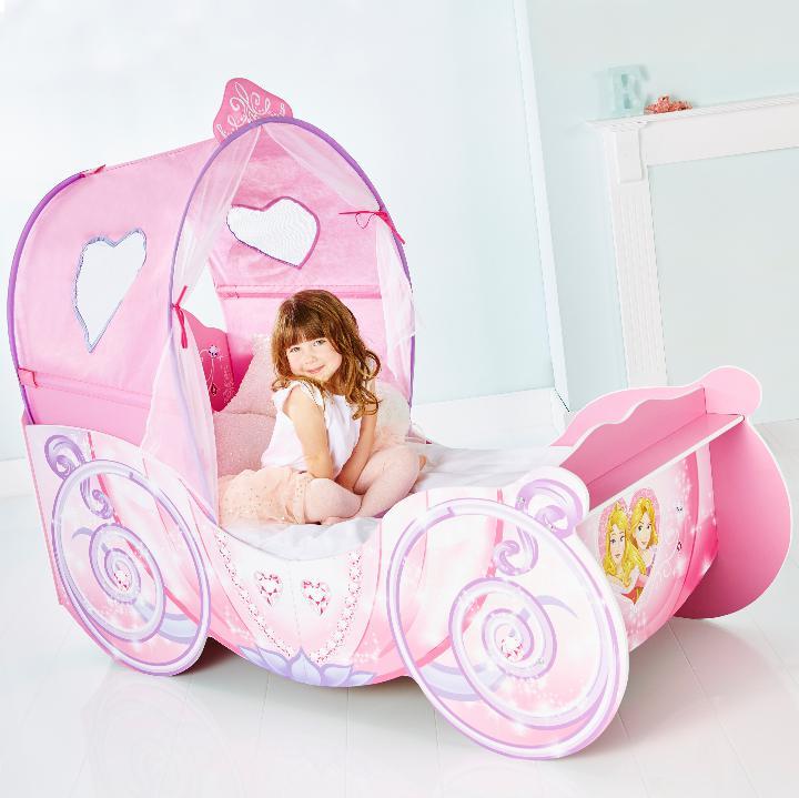 Drømmerom Disney Prinsesse vognseng med LYS