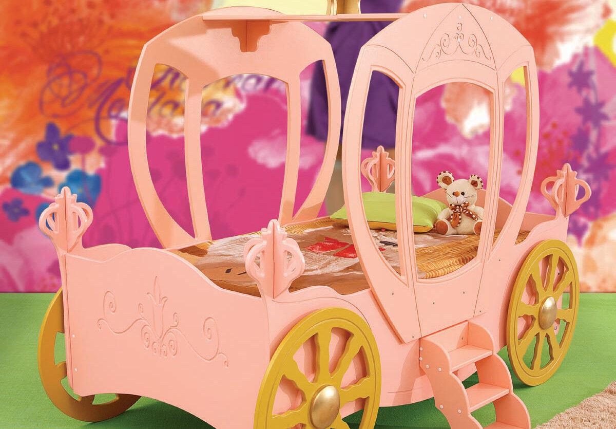 Drømmerom Prinsessevogn barneseng exclusive – Inkludert madrass
