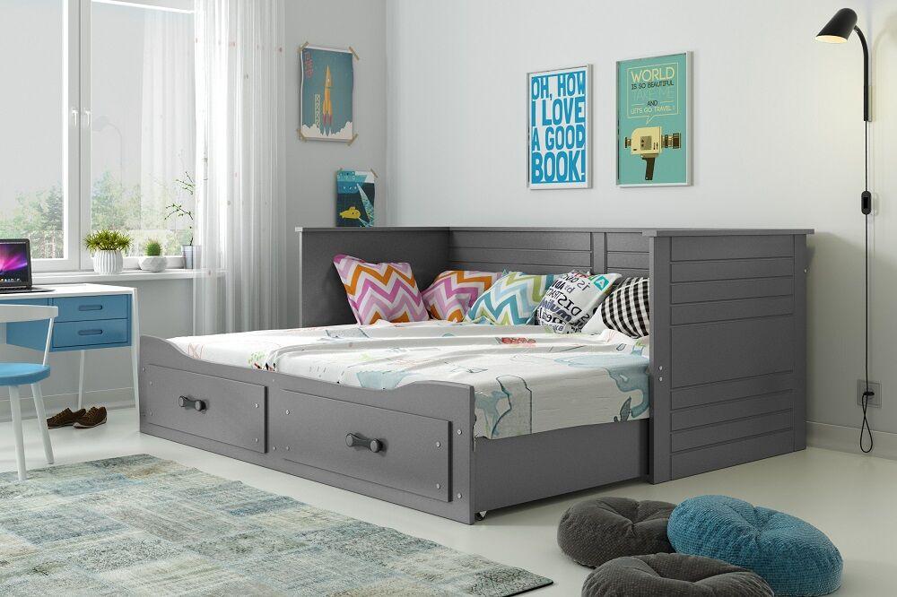 Drømmerom Hermes Sofaseng med skuff – inkludert madrasser! GRÅ