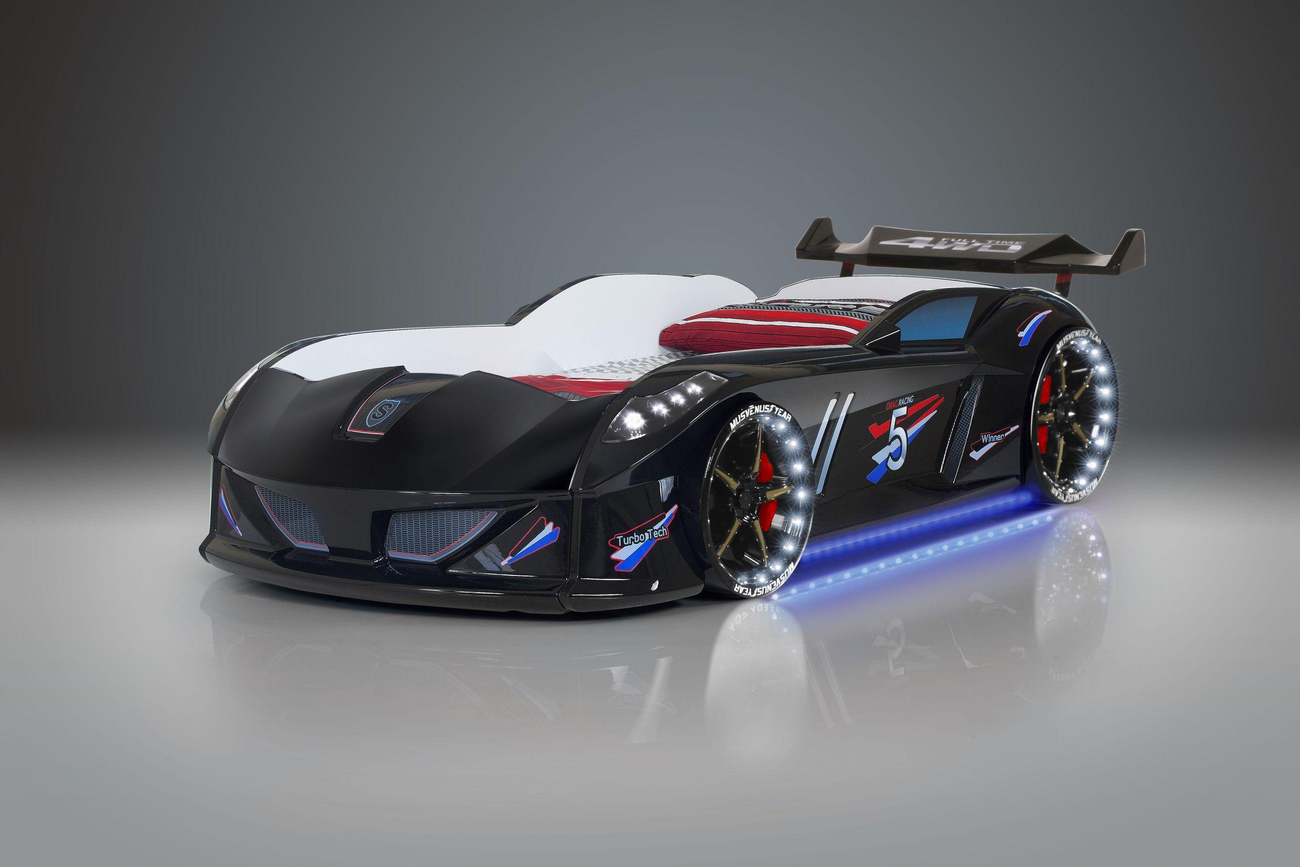 Drømmerom Bilseng Speedy Boy 7000 Black- med LYD og LED LYS