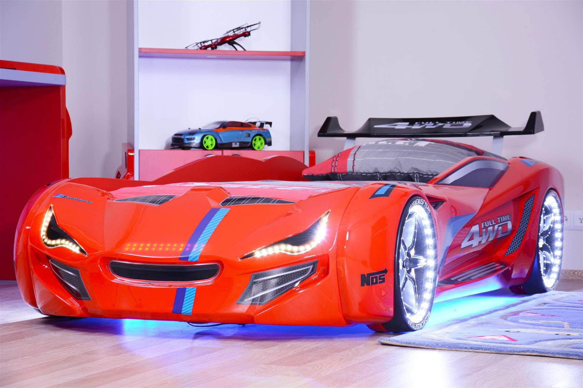 Drømmerom Bilseng Knight Rider 7000 Red- med LYD og LED LYS