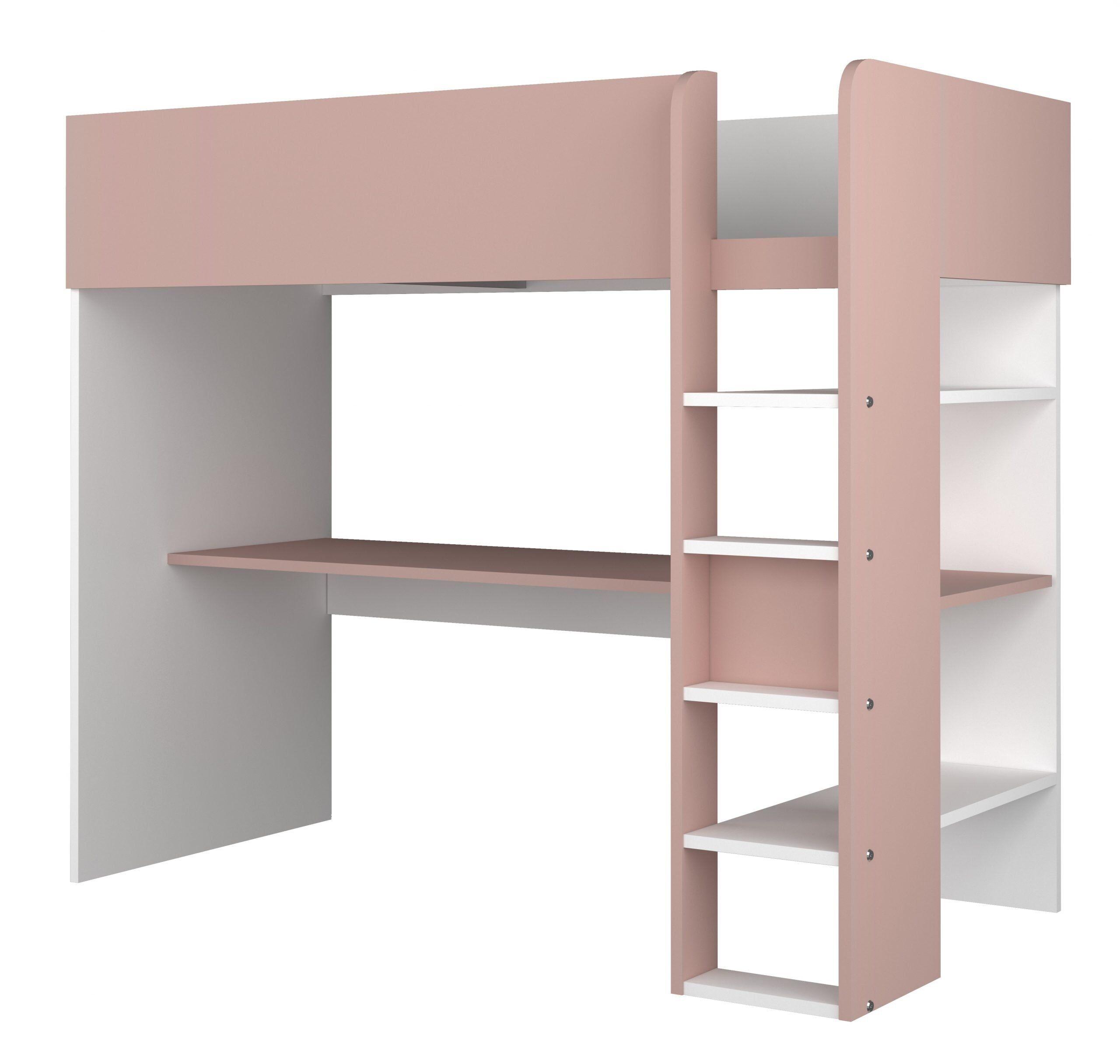 Drømmerom Loftseng Trasman – rosa 90×200