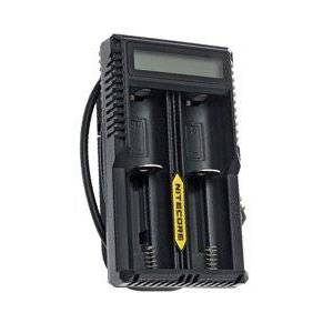 Rechargeable Nitecore 2x Lithium Cell AC adapter / lader