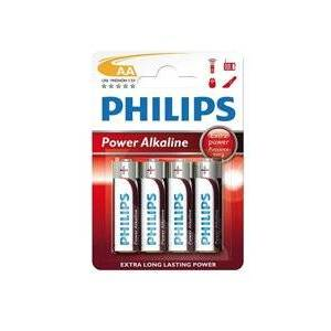 Disposable Philips 4x AA batteri