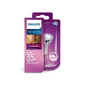 GU10 Philips GU10 LED-lyspærer 4W (35W) (Spot, Kan dimmes)