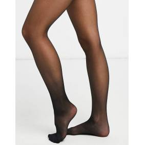 Lindex 40 denier firm shaping tights in black  Black