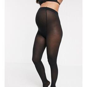 Lindex 40 Denier recycled maternity tights in black  Black