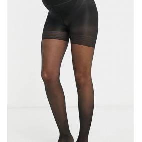 Lindex Maternity 40 denier support tights in black  Black
