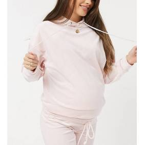 Lindex MOM Exclusive Taylor recycled poly velour maternity hoodie in pink  Pink