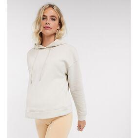 Lindex MOM Taylor brushed cotton lounge hoodie in beige  Beige
