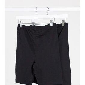Mama.licious Mamalicious maternity jersey shorts 2 pack in black-Multi  Multi