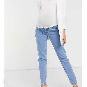 Missguided Maternity Missgudied Maternity over the bump stretch riot jean in blue  Blue