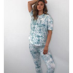 Missguided Maternity co-ord leggings in tie dye-Multi  Multi