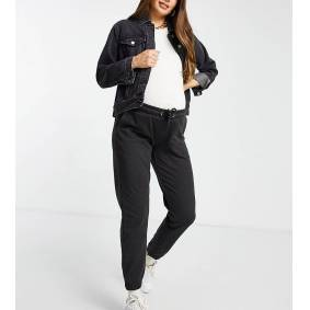 Missguided Maternity oversized joggers in black  Black