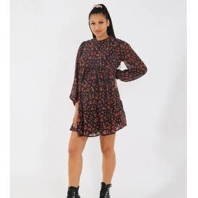 Missguided Maternity smock dress with keyhole back in black floral  Black