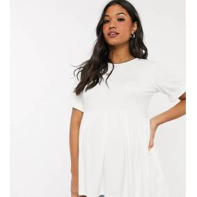 Missguided Maternity smock top in white  White