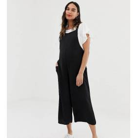 New Look Maternity dungaree jumpsuit in black  Black