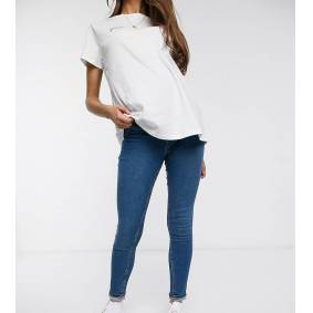 New Look Maternity lift and shape overbump jegging in mid blue  Blue