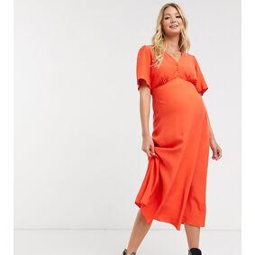 New Look Maternity midi tea dress in burnt orange  Orange