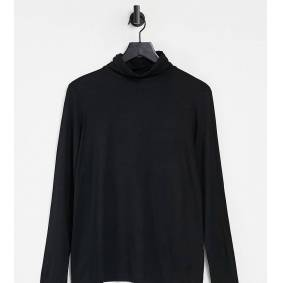 New Look Maternity roll neck top in black  Black