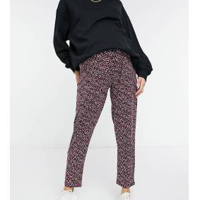 New Look Maternity soft touch jogger in burgundy spot print-Multi  Multi