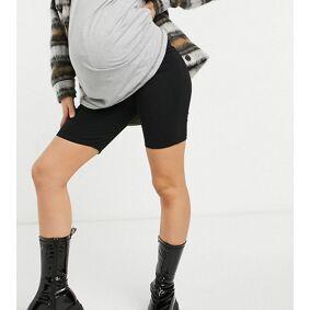 River Island Maternity high rise legging shorts in black  Black