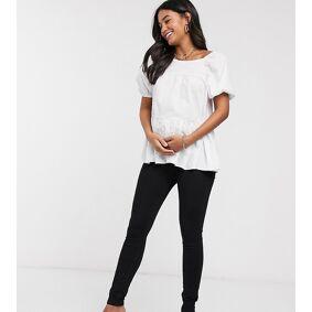 River Island Maternity underbump jeans in black  Black