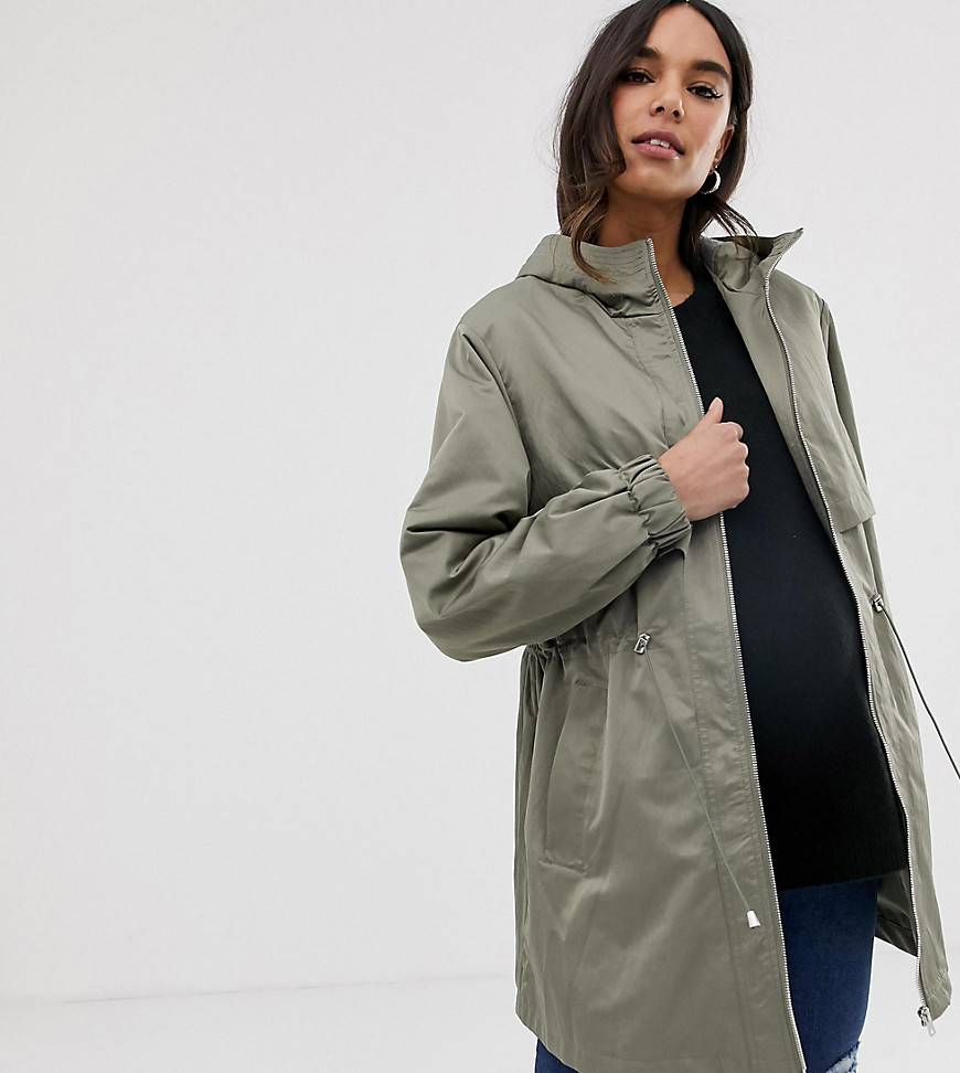 Asos DESIGN Maternity lightweight parka with jersey lining - Khaki