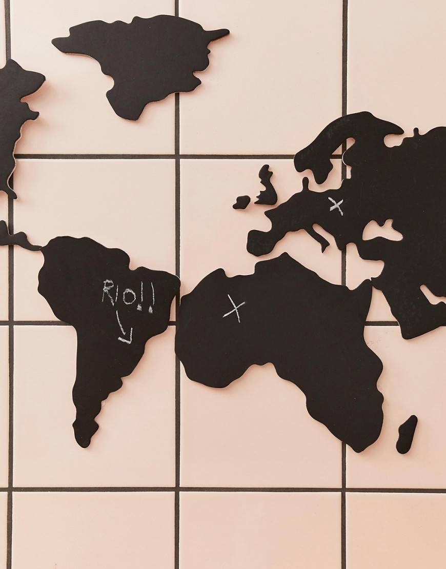 Luckies chalkboard map - Multi