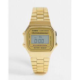 Casio A168WG-9EF unisex gold plated digital watch  Gold
