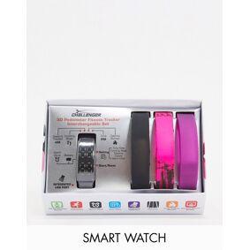 Stratford Challenger smart watch with multiple straps-Black  Black