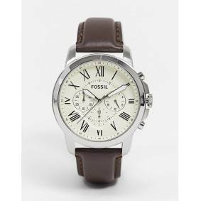 Fossil FS4735 Grant brown leather strap chronograph watch  Brown