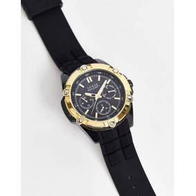 Guess chronograph watch in black  Black