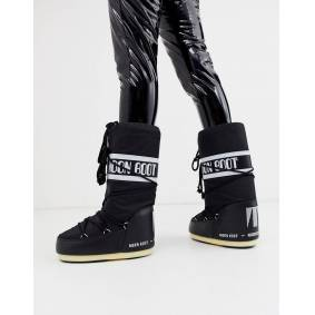 Moon Boot Nylon Icon snowboots in black  Black