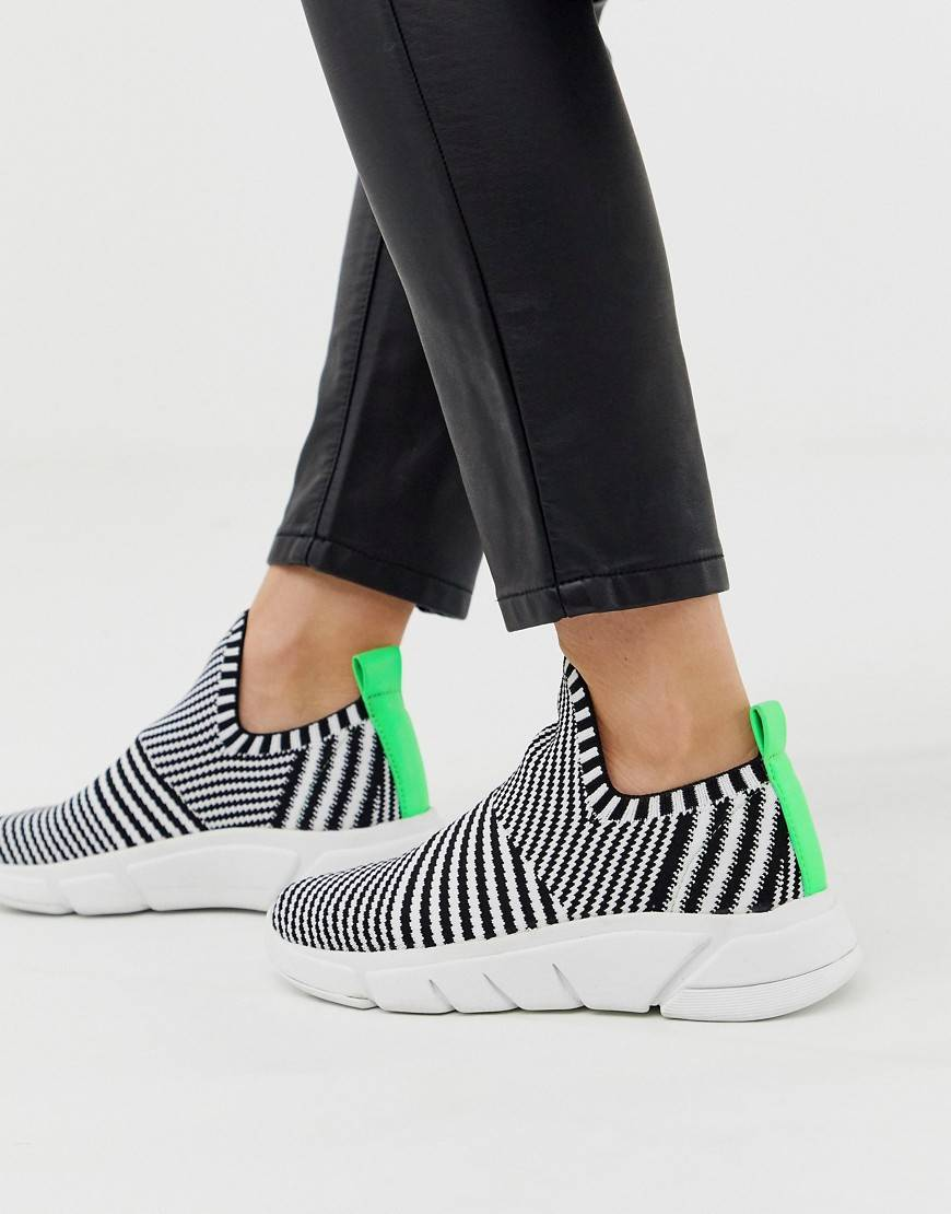 Kendall  Kylie slip on knit trainers - Grey knit mix