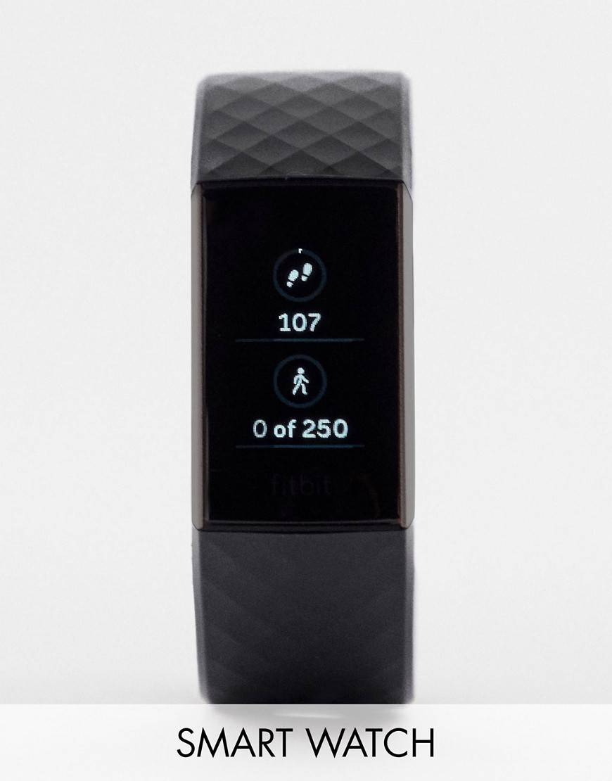Fitbit Charge 3 smart watch in black - Black