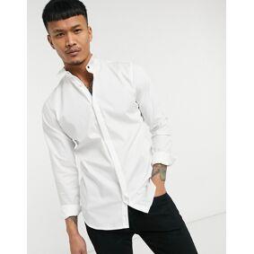 Jack & Jones Premium tuxedo shirt in white  White
