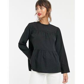 Vero Moda geo print smock blouse in black-Multi  Multi